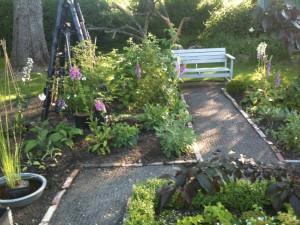 Havebænken er en dejlig siddeplads