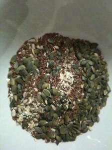 Korn og frø blanding til knækbrød