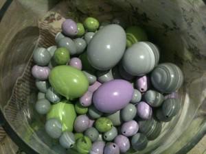 Pastelfarvede æg