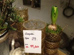Glas til hyacinther eller lys